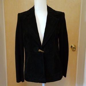 Women's suede/sweater knit blazer